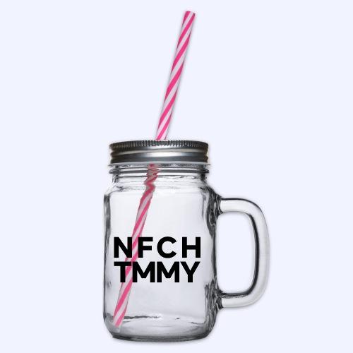 Einfach Tommy / NFCHTMMY / Black Font - Henkelglas mit Schraubdeckel