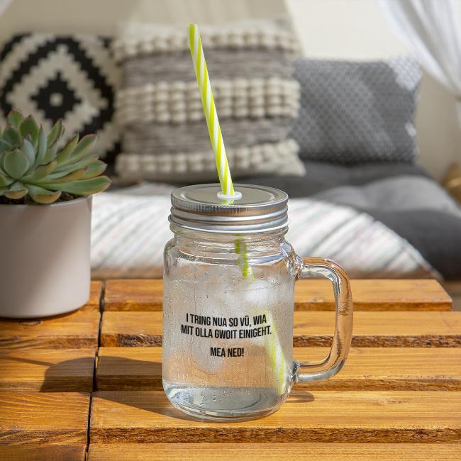 Vorschau: Klassiker Sprüche - Henkelglas mit Schraubdeckel