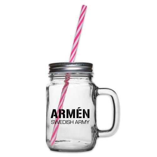 ARMÉN -Swedish Army - Glas med handtag och skruvlock