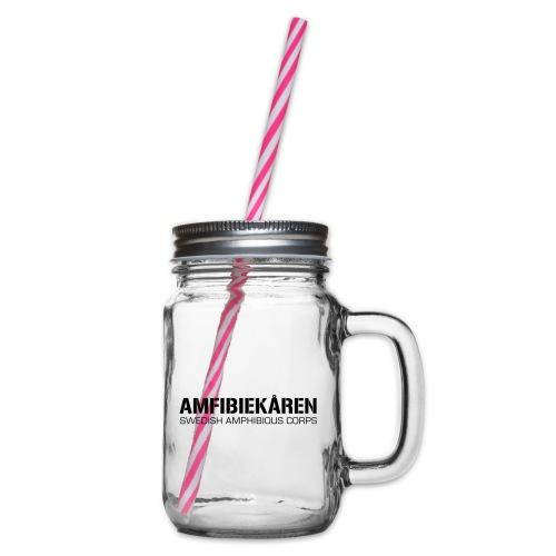 Amfibiekåren -Swedish Amphibious Corps - Glas med handtag och skruvlock