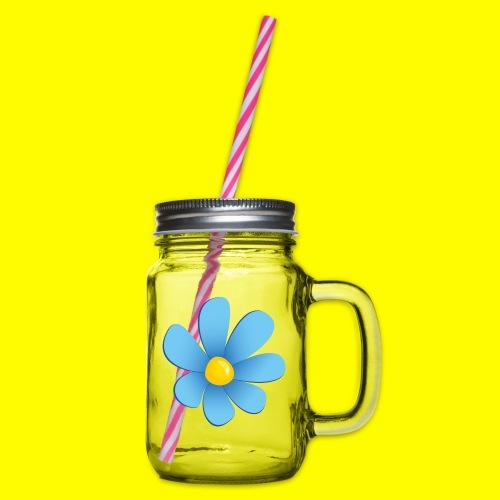 Sverigedemokraterna - Glas med handtag och skruvlock