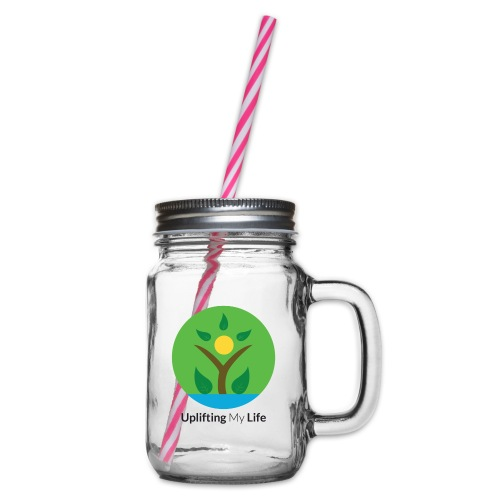 Uplifting My Life Official Merchandise - Glass jar with handle and screw cap