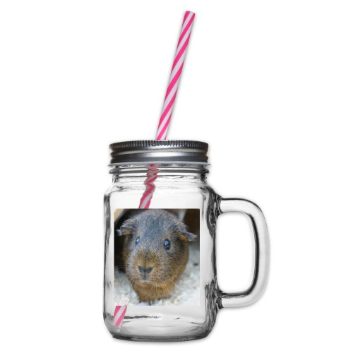 Fluffy - Henkelglas mit Schraubdeckel