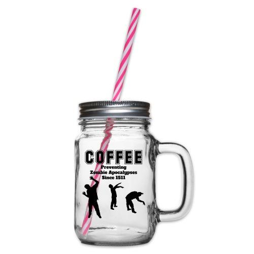 coffee apocalypse - Henkelglas mit Schraubdeckel