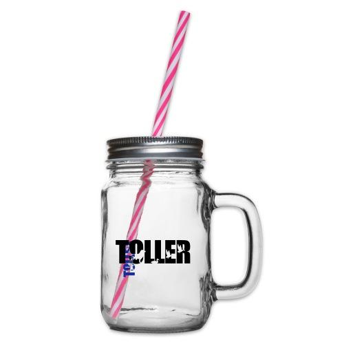 Toller Design s w - Henkelglas mit Schraubdeckel