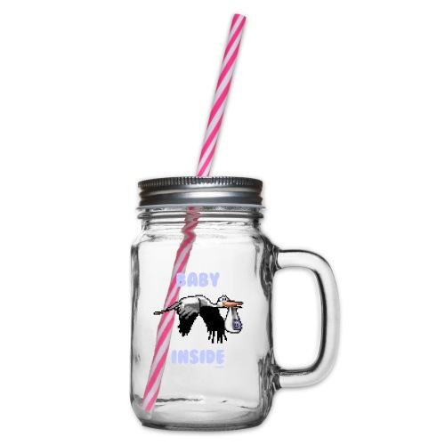 Babyinside - Boy - Henkelglas mit Schraubdeckel