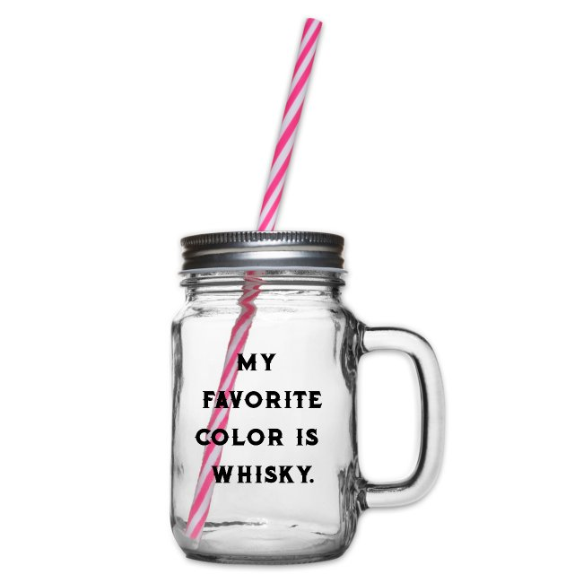 Favorite color whiskey / whiskey fan / gift idea