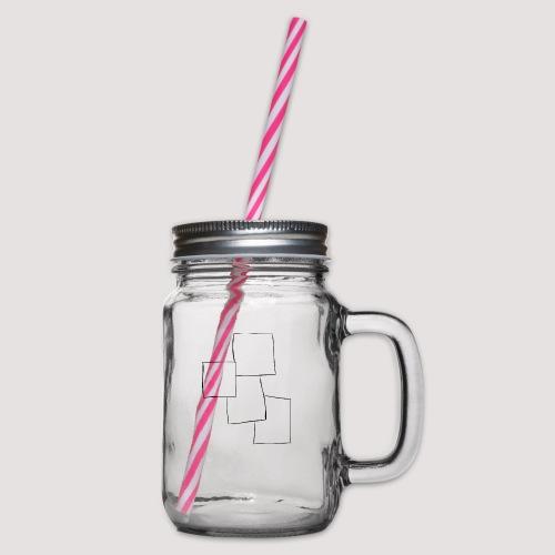 4 Squares - Glass med hank og skrulokk