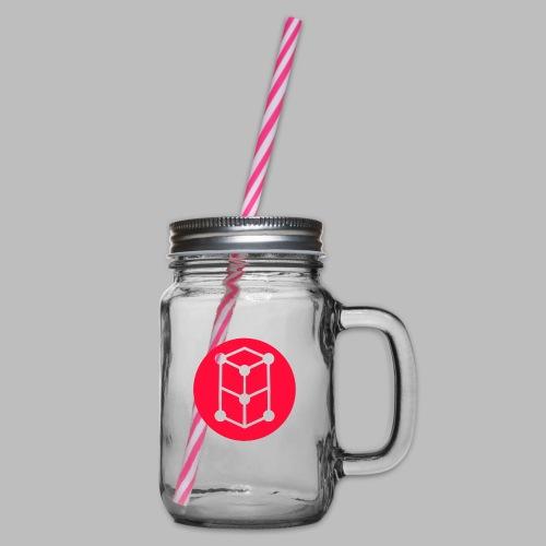 grid minimal - Henkelglas mit Schraubdeckel