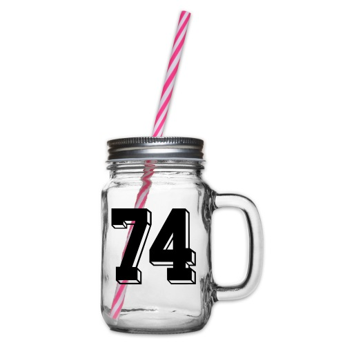 Football 74 - Glass jar with handle and screw cap