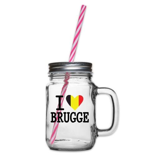 I Love Brugge - Drinkbeker met handvat en schroefdeksel
