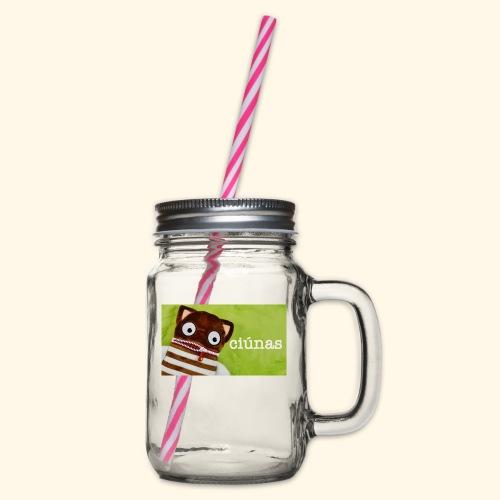 ciunas - Glass jar with handle and screw cap