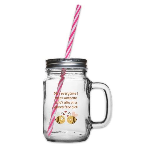 Glutenfree friends - Henkelglas mit Schraubdeckel