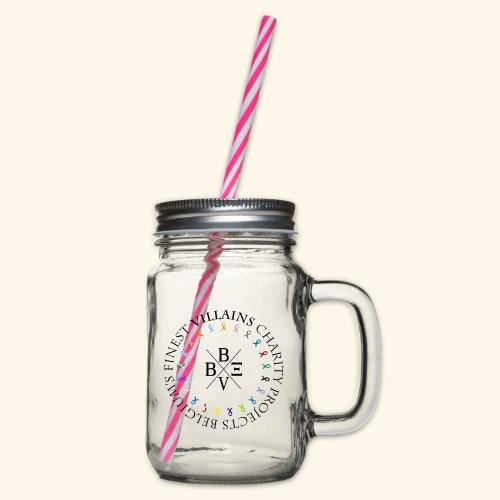 BVBE Charity Projects - Glass jar with handle and screw cap