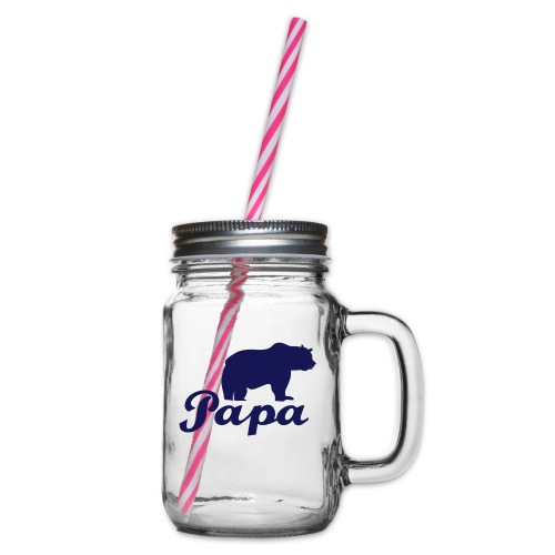 papa beer - Drinkbeker met handvat en schroefdeksel