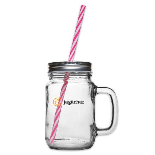 #jagärhär - Glas med handtag och skruvlock