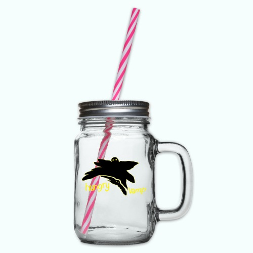 hungry vamp - Glass jar with handle and screw cap
