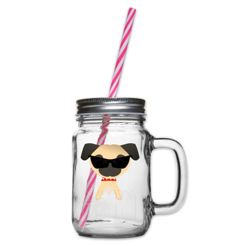 pug - Glass jar with handle and screw cap