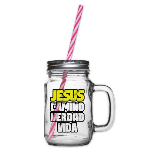 Jesus Camino Verdad Vida - Juan 14:6 - Jarra con asa y tapa roscada