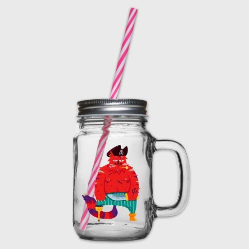 Chat Pirate Barbe-Rousse - Bocal à boisson