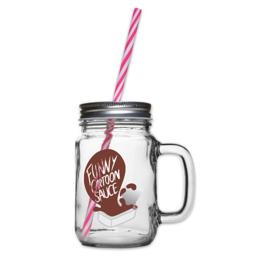 FUNNY CARTOON SAUCE - FEMALE - Glass jar with handle and screw cap