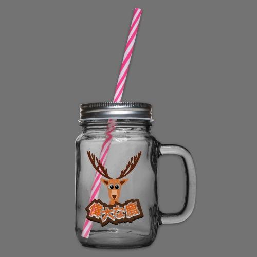 Suuri hirvi (Japani 偉大 な 鹿) - Lasimuki kierrekannella