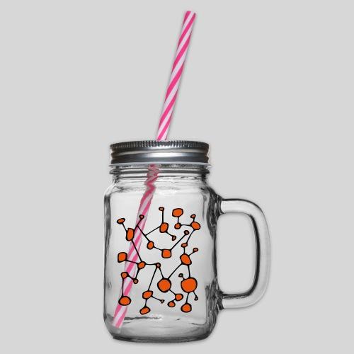 connected_version2 - Henkelglas mit Schraubdeckel