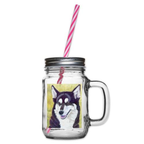 Siberian husky - Drikkekrus med skruelåg