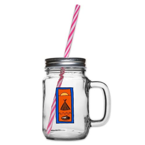 Samisk motiv - Glass med hank og skrulokk