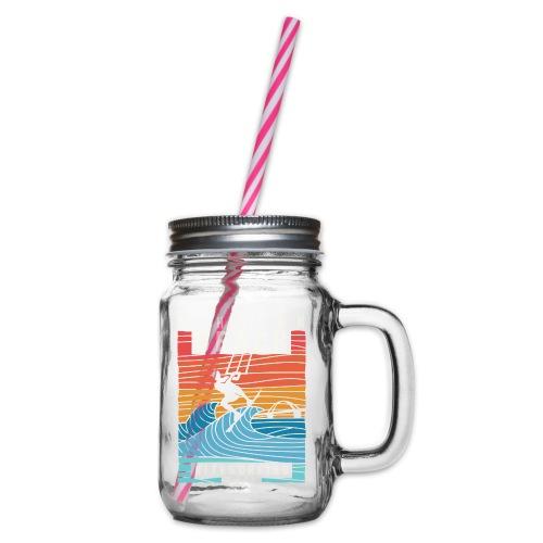 Fehmarn - Kitesurfen - Henkelglas mit Schraubdeckel