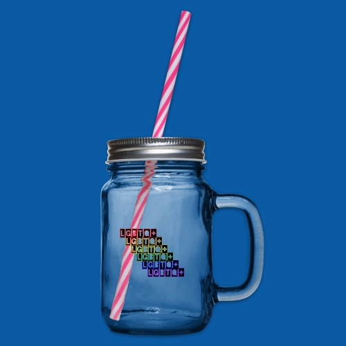 LGBTQ+ Raibow - Henkelglas mit Schraubdeckel