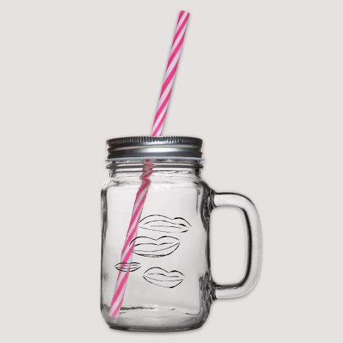 4 Lips - Glass med hank og skrulokk