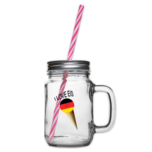 Fußball WM Fan Geschenk - Henkelglas mit Schraubdeckel