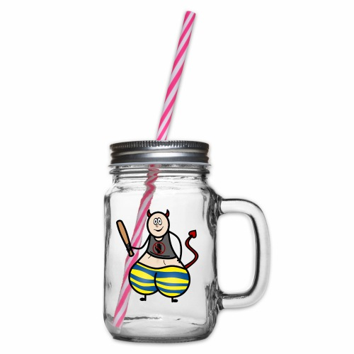 Devil No Touchies Charlie - Glass jar with handle and screw cap