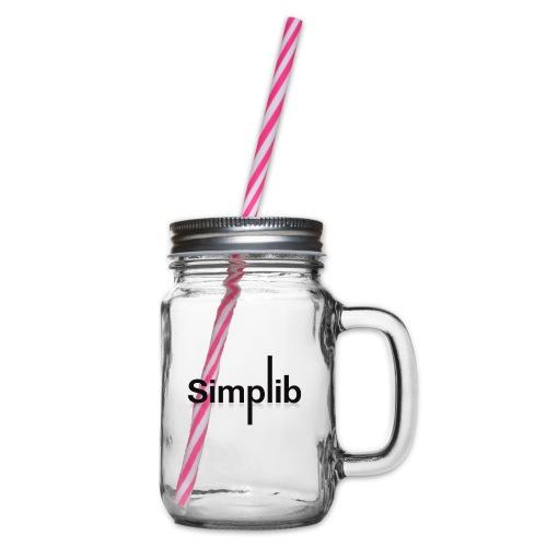Logo-Simplib-ok - Słoik do picia z pokrywką