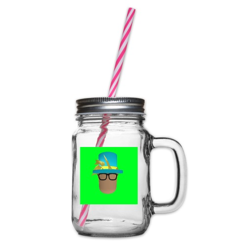 MrWhatWhat Logo Merch - Glass jar with handle and screw cap