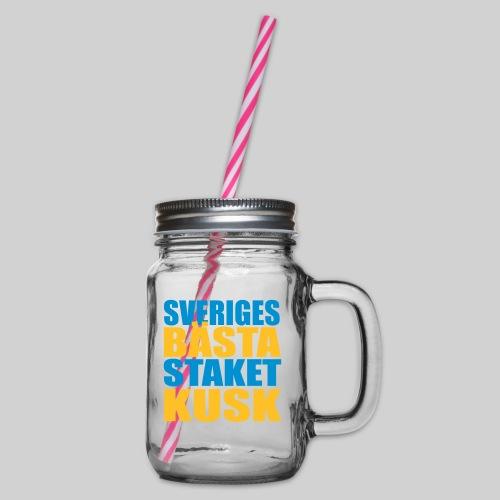 Sveriges bästa staketkusk! - Glas med handtag och skruvlock
