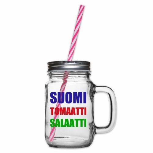 SUOMI SALAATTI tomater - Glass med hank og skrulokk