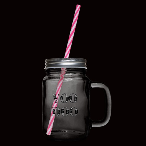 VoodooBrand T-Shirt - Glass jar with handle and screw cap