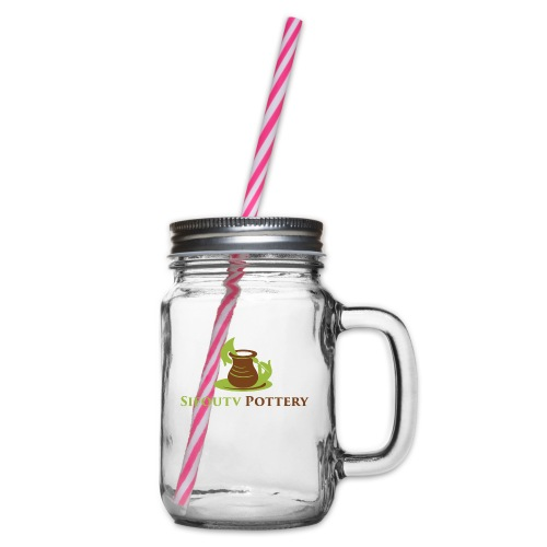 Sifoutv Pottery - Glass jar with handle and screw cap