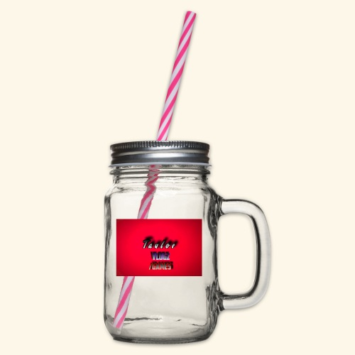 IMG 0400 - Glass jar with handle and screw cap