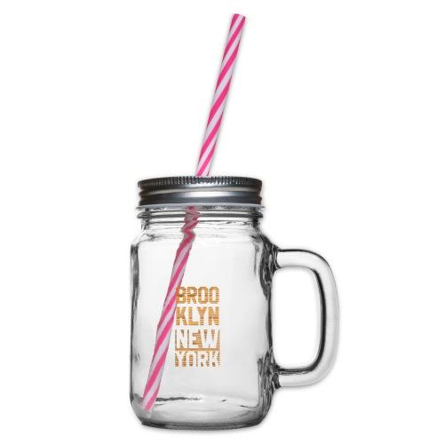Brooklyn New York - Henkelglas mit Schraubdeckel