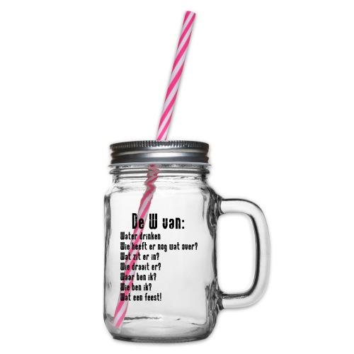 De W van: Ravers Editie - Drinkbeker met handvat en schroefdeksel