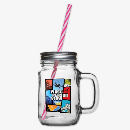 Ultimate Video Game - Glass jar with handle and screw cap