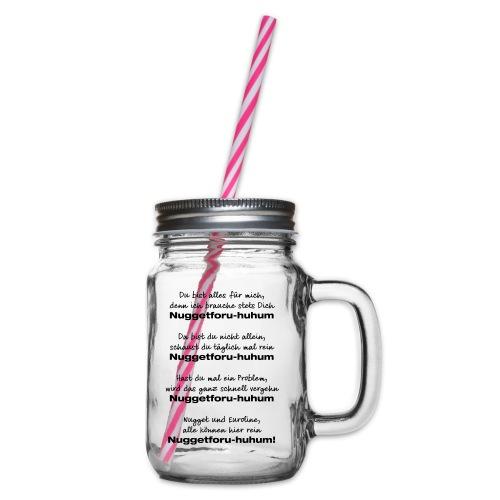 Du bist alles für mich - Henkelglas mit Schraubdeckel