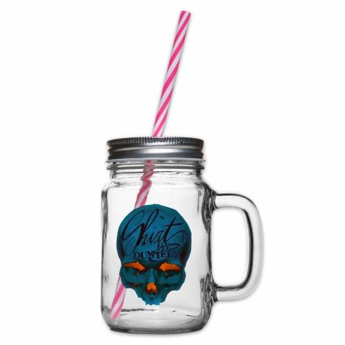 Dum Skull Orange glow - Drinkbeker met handvat en schroefdeksel