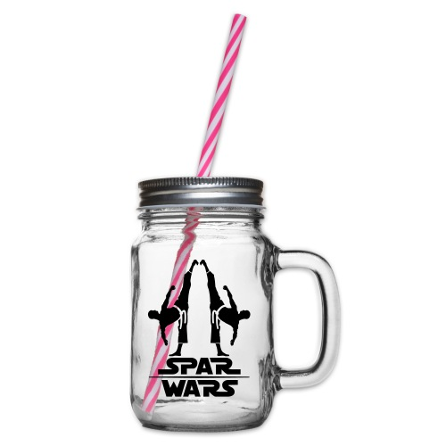 Spar Wars Martial Art - Glass jar with handle and screw cap