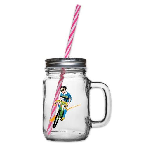 The Bicycle Girl - Henkelglas mit Schraubdeckel