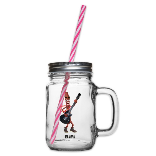 BiFi T-Shirt Men - Glass jar with handle and screw cap