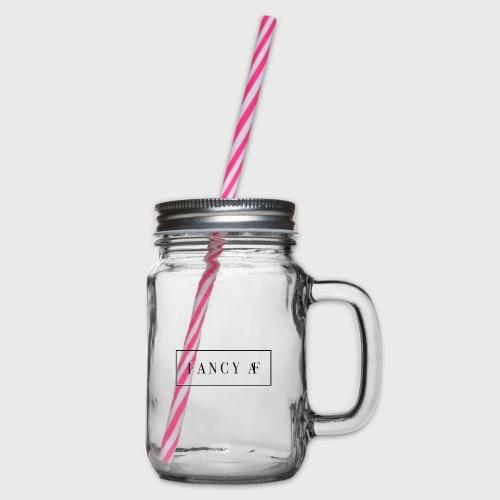 Fancy AF - Drinkbeker met handvat en schroefdeksel